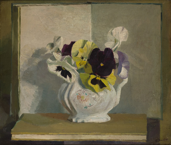 Artist Evelyn Dunbar: Pansies and Violas, winter 1945-46 [HMO 1013]