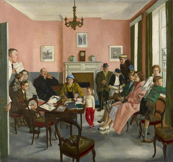 Artist Alfred Reginald Thomson: The Doctors Waiting Room, 1959