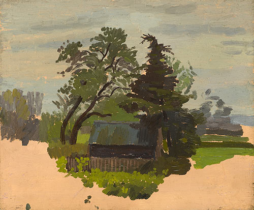 Artist Charles Mahoney: Rural Cottage