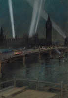 War Searchlights over Westminster...