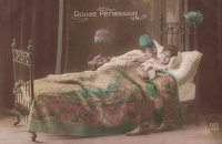 French postcard - Douce Permission