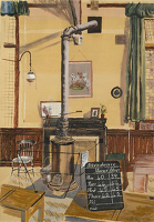 Artist Kenneth Rowntree: The Schoolroom, 1940s