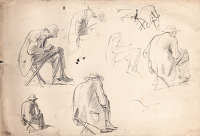 Studies of Charles Mahoney sketching