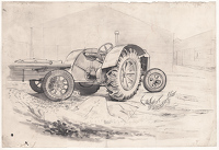 Study of tractor at Sparsholt Farm...