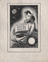 Artist Evelyn Dunbar: Ex Libris Hylda Roots – Design for an Ex Libris commission [HMO 337]