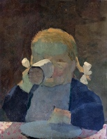 Artist Kenneth Rowntree: Portrait of Sasha, aged four 1951