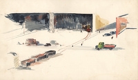 Artist Charles Cundall: Steel Company of Wales, Abbey Works Port Talbot IV