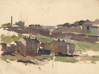 Artist Charles Cundall: Sketch for Prospect Mills