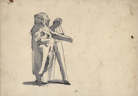 Artist Evelyn Dunbar: Studies for Putting on Anti-Gas Protective Clothing, study D