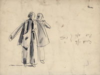 Artist Evelyn Dunbar: Studies for Putting on Anti-Gas Protective Clothing, study A.