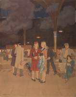 Artist Margaret Gere: Partings at Paddington, 1948
