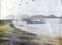 Study for 'Leaving Scapa Flow'...