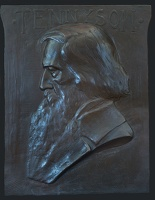 Artist Alexander Buchanan: Tennyson, 1911, relief profile portrait