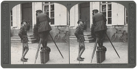Artist Anonymous: Stereoscopic print: H.R.H. the Prince of Wales discussing cinematography with Mr. Girdwood.