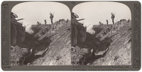 Artist Anonymous: Stereoscopic print: Capture of a Hun blockhouse in the Hindenburg Line at Croiselles...