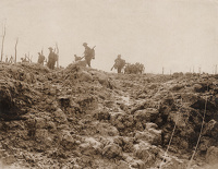 Artist Anonymous: Official photograph taken on the Western Front C.2224 The Battle of Flanders...