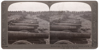 Artist Anonymous: Stereoscopic print; Hundreds of captured German guns in a gun park at Brussels.