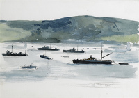 Artist Charles Cundall: Possibly a study for Tobermory from the Admiral's Flagship, c.1942