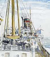 Artist Charles Cundall: Calm in the Baltic, 1935