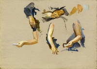 Artist Charles Cundall: Study of arms and hands