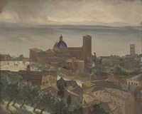 Artist Charles Cundall: The Duomo, Assisi, early 1920s