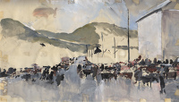 Artist Charles Cundall: Sketch for Fair at Waterville Co Kerry