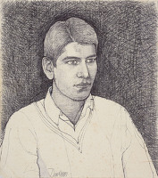 Artist David Evans: Portrait of a young man