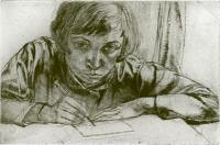 Artist Evelyn Gibbs: Self Portrait, 1927