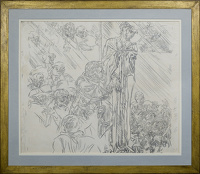Artist Frank Brangwyn: The 1st Station: Jesus is Condemned to Death