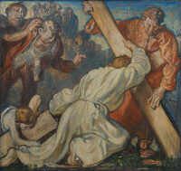 Artist Frank Brangwyn: The 3rd Station: Jesus Falls the First Time