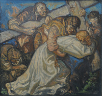 Artist Frank Brangwyn: The 5th Station: Simon of Cyrene Helps Jesus Carry the Cross