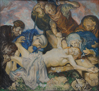Artist Frank Brangwyn: The 11th Station: Jesus is Nailed to the Cross