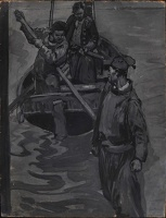 Artist Frank Brangwyn: You drove him from the boat, 1916