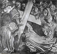 Artist Frank Brangwyn: The 9th Station: Jesus Falls the Third Time