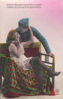 Artist French School: French postcard - Le baiser que