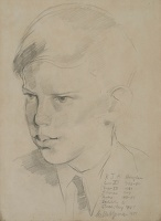 Artist Gilbert Spencer: Portrait of RJA, 1951