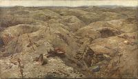 Artist Harry van der Weyden: Desolation - Trenches North of Lens, 1919