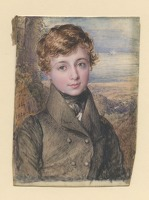 Artist John Linnel: Portrait of a Young Man, 1829