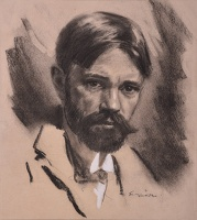 Artist Joseph Simpson: Portrait of D.H. Lawrence (1885-1930)