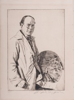 Artist Joseph Simpson: Self Portrait, The Artist Standing, 1925