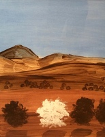 Artist Kenneth Rowntree: Mountains - Umbria, 1974