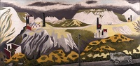 Artist Mary Adshead: The Old Rolls on Bodmin Moore ; China Clay Landscape