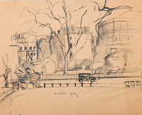Artist Stanley Lewis: Study of Hyde Park, circa 1931
