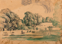 Artist Stanley Lewis: Study for Hyde Park, circa 1930