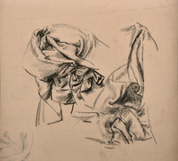 Artist Victor Hume Moody: Drapery study, possibly for The Vengeance of Diana, c. 1946