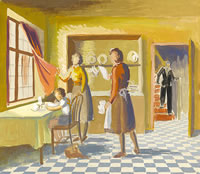 Kitchen Scene, circa 1940