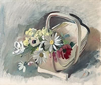 Trug with dog daisies: study for Amity