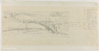 Artist Winifred Knights: Landscape study, Italy, with colour notes