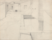 Artist Winifred Knights: Study of Waterbasins at Anticoli Corrado, Lazio
