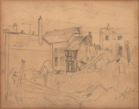Study for Bomb damaged houses